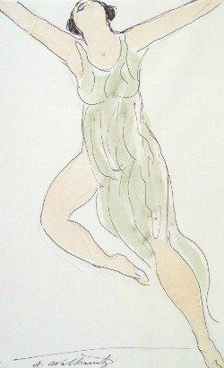 Painting of Isadora Duncan by Abraham Walkowitz, Public Domain via Wikimedia