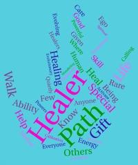 Healer word cloud
