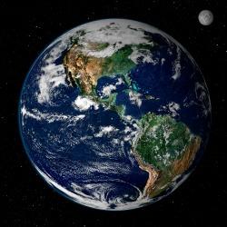 Earth from space, By NASA/GSFC/Reto Stöckli, Nazmi El Saleous, and Marit Jentoft-Nilsen - http://earthobservatory.nasa.gov/IOTD/view.php?id=885, Public Domain, https://commons.wikimedia.org/w/index.php?curid=2561260