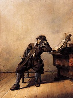 Painting of depressed man by Pieter Codde