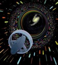 NASA depiction of wormhole travel