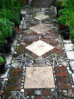 Ornate garden path