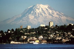 Mt. Rainier from Tacoma, home of the Daphne Michaels Institute
