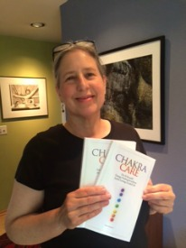 Nancy Hausauer with book Chakra Care