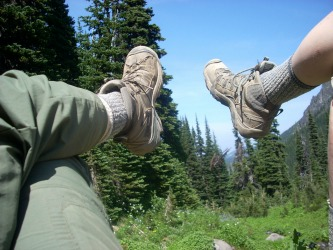 Image: Relaxing on Mt. Rainier