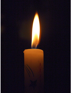 Candle flame, symbolizing hope