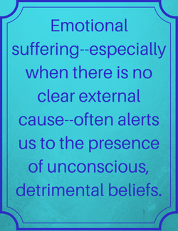 Poster, Emotional suffering alerts us
