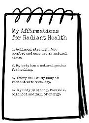 Health Affirmations Notebook