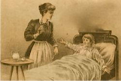 Image of a child sick in bed