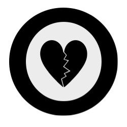 Graphic: heart with wall around it