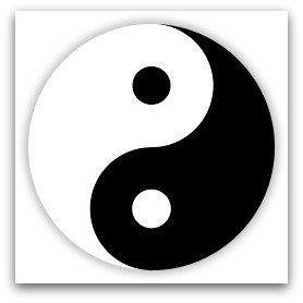 Yin yang symbo
